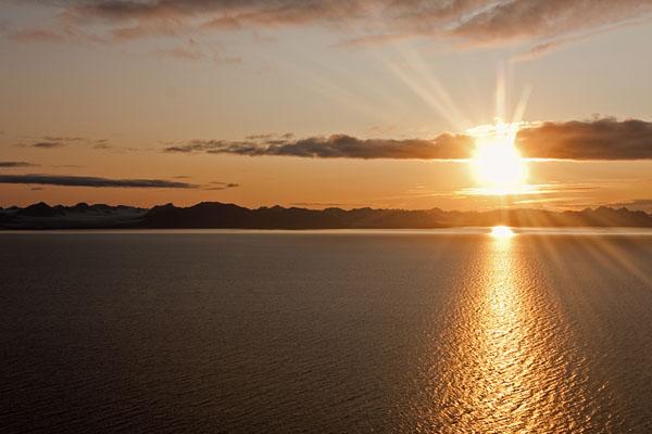 Полночь полярного дня, Шпицберген / Фото со Шпицбергена