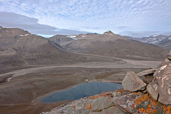 "Над Голубым озером близ рудника ""Пирамида"" / Фото со Шпицбергена"