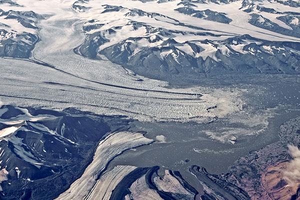Вид на ледники Шпицбергена / Фото со Шпицбергена