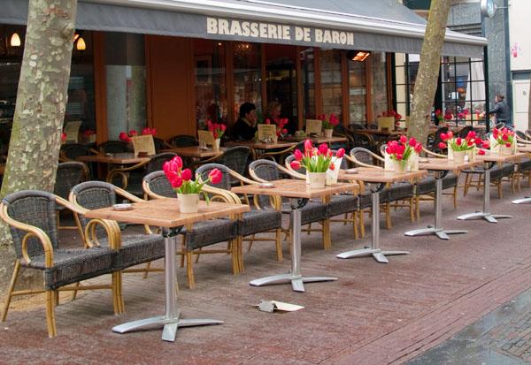 Терраса кафе в Харлеме / Фото из Нидерландов