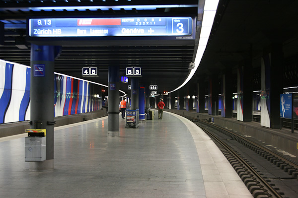 Перрон на вокзале Цюриха / Фото из Швейцарии