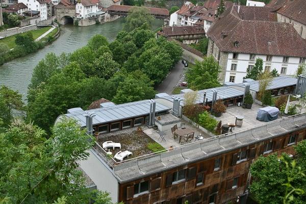Вид на Фрибур и реку / Фото из Швейцарии