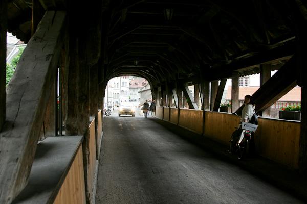 Деревянный Бернский мост / Фото из Швейцарии