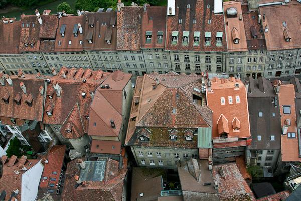 Домики сверху / Фото из Швейцарии