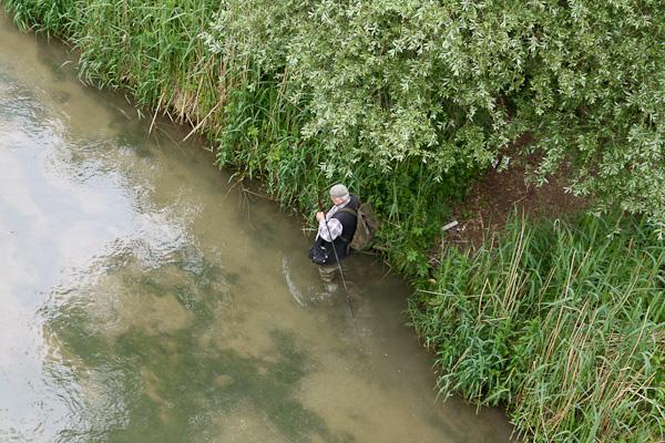 Рыбак в реке Сарин / Фото из Швейцарии