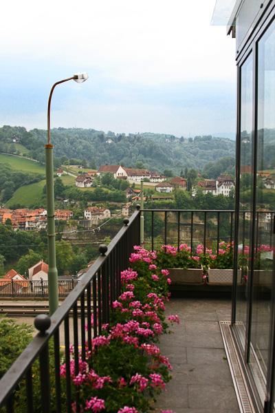 Вид с терассы ресторана / Фото из Швейцарии