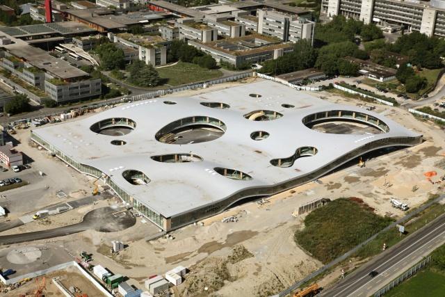 Учебный центр Ролекс во время строительства / Фото из Швейцарии