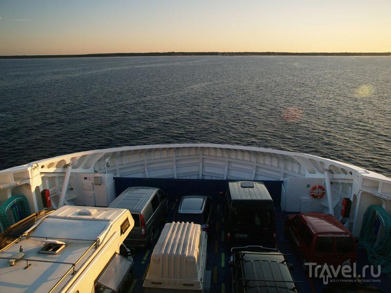 Нижняя палуба парома на Муху / Фото из Эстонии