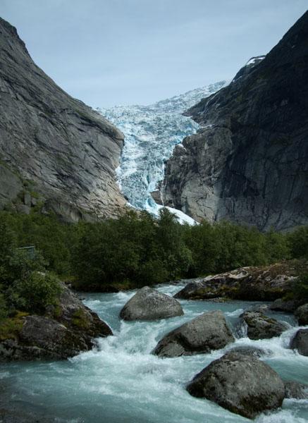 Ледник Бригсдалс - настоящее чудо природы / Фото из Норвегии
