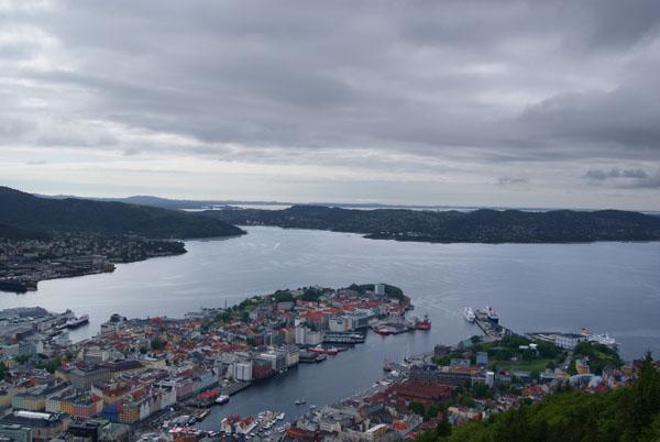 Вид на Берген - один из интереснейших городов Норвегии / Фото из Норвегии
