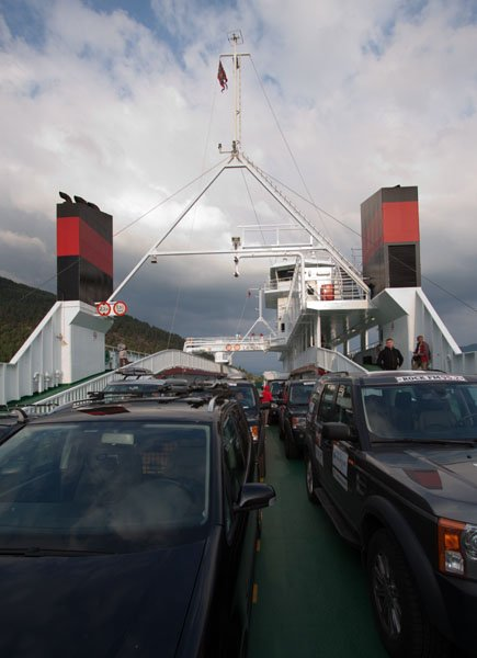 Начало пути в Берген на борту местного парома  / Фото из Норвегии