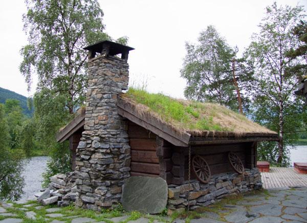 Норвежский домик - абсолютная идиллия на природе / Фото из Норвегии