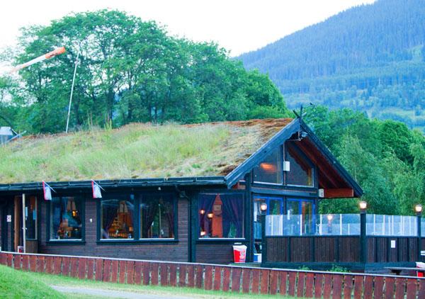 Современный дом со старинной крышей в Норвегии / Фото из Норвегии