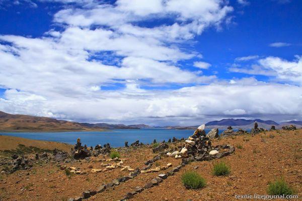 Озеро Ракшас на Тибете / Фото из Китая