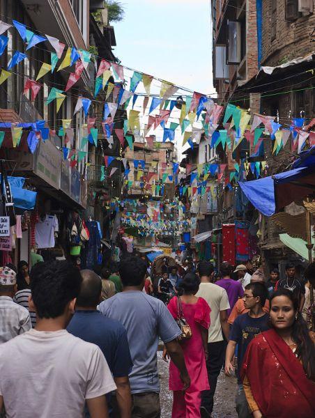 Уличный рынок в Катманду / Фото из Непала