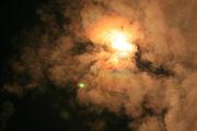 Ракета скрылась за облаками / Казахстан