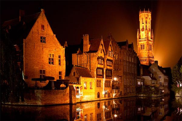 Ночной Брюгге / Фото из Бельгии