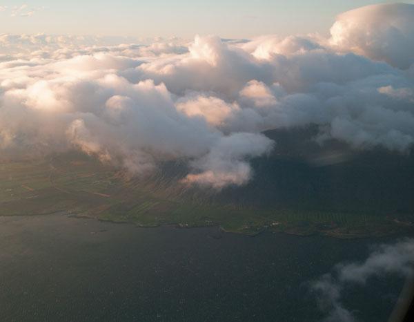 Вид из иллюминатора Air Iceland / Фото из Исландии