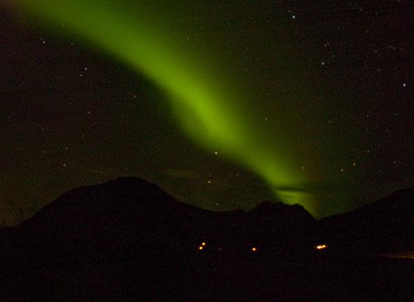 Моя первая попытка сфотографировать северное сияние / Фото из Исландии