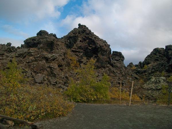 Парк Dimmuborgir осенью / Фото из Исландии