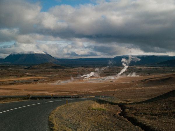 По дороге к Hamafjall Hverir / Фото из Исландии
