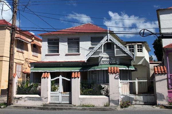 Резные фасады в Бриджтауне / Фото с Барбадоса