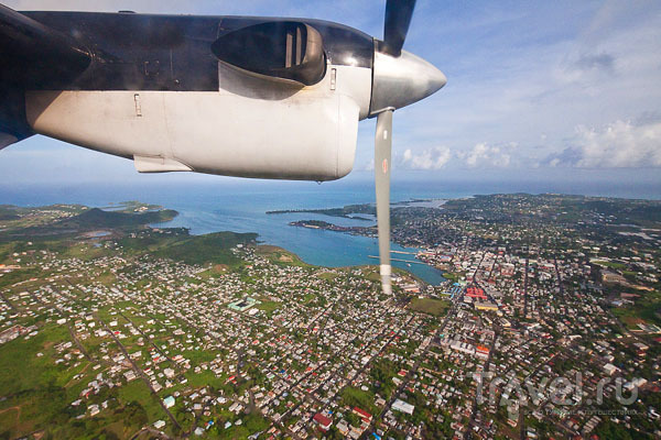 Вид на столицу Антигуа город Сент-Джонс / Фото из Антигуа и Барбуды