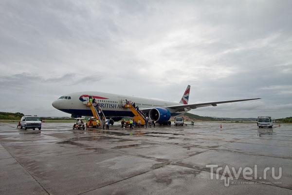 Самолет British Airways B777-200ER / Фото из Антигуа и Барбуды