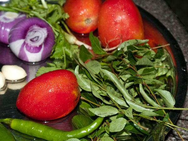 Овощные ингредиенты для кулинарного курса / Фото из Индии