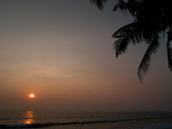 Закат в Варкале / Фото из Индии