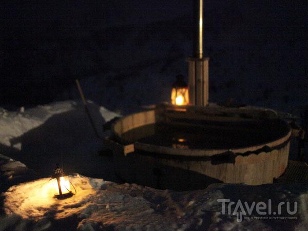 Бочка с горячей водой под открытым небом / Фото из Италии