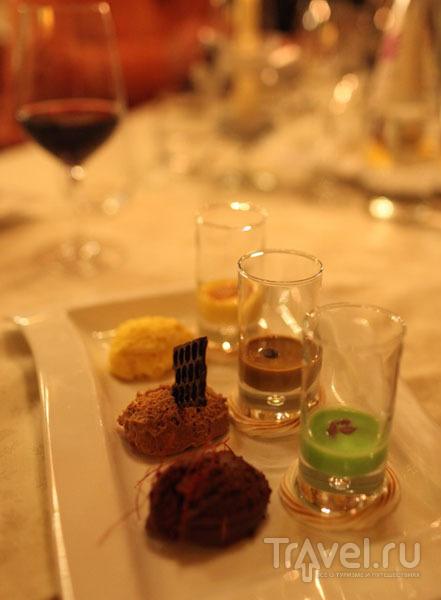Десерт в высококлассном горном ресторане / Фото из Италии