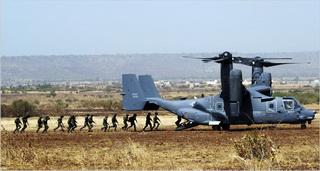 Американские солдаты в Бамако / Мали