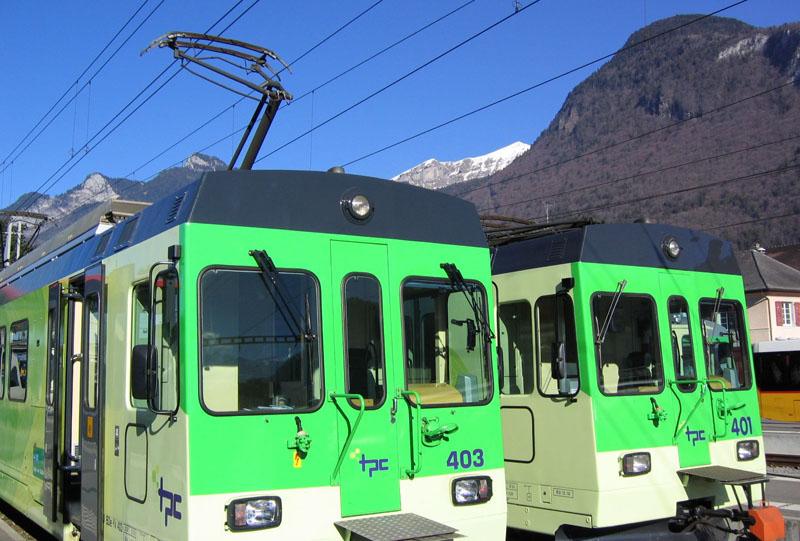 Состав горной железной дороги на Ле-Дьяблере / Фото из Швейцарии