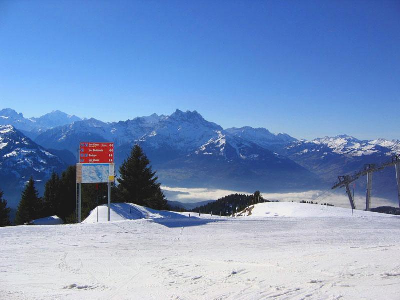 Склоны тщательно маркируются, заблудиться будет сложно / Фото из Швейцарии