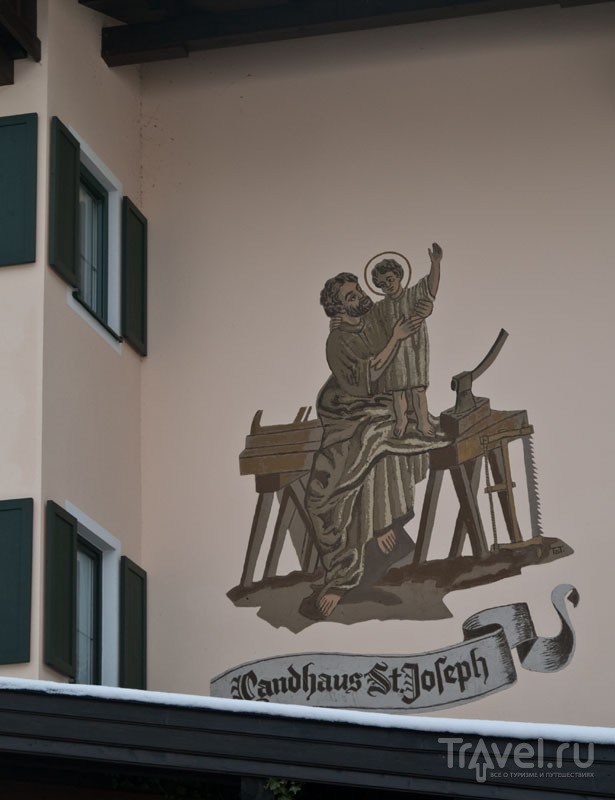 Роспись на доме, Майрхофен / Фото из Австрии