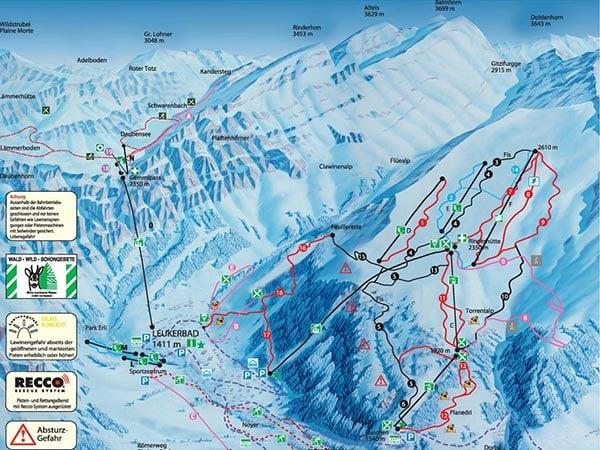 Карта трасс Лейкербада