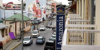 Центральная улица Кайенны / Суринам