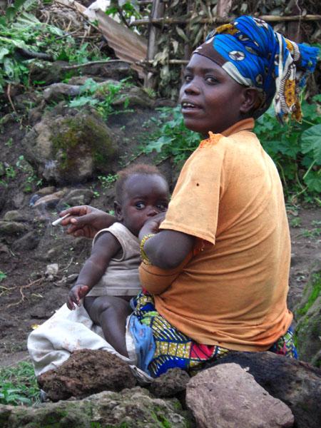 Пигмеи в Уганде / Фото из Конго (бывш. Заир)