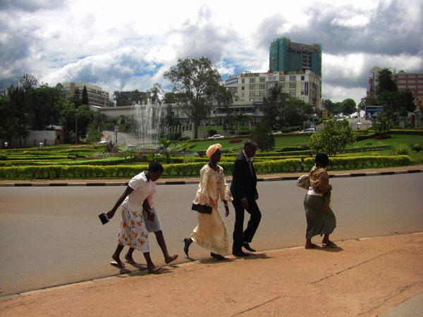 Жители города Кигали, Руанда / Фото из Конго (бывш. Заир)