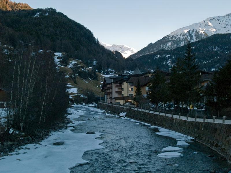 Зёльден на закате / Фото из Австрии