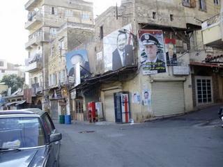 Заклеен предвыборной агитацией / Ливан