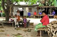 Фиджийцы дома на отдыхе / Фиджи