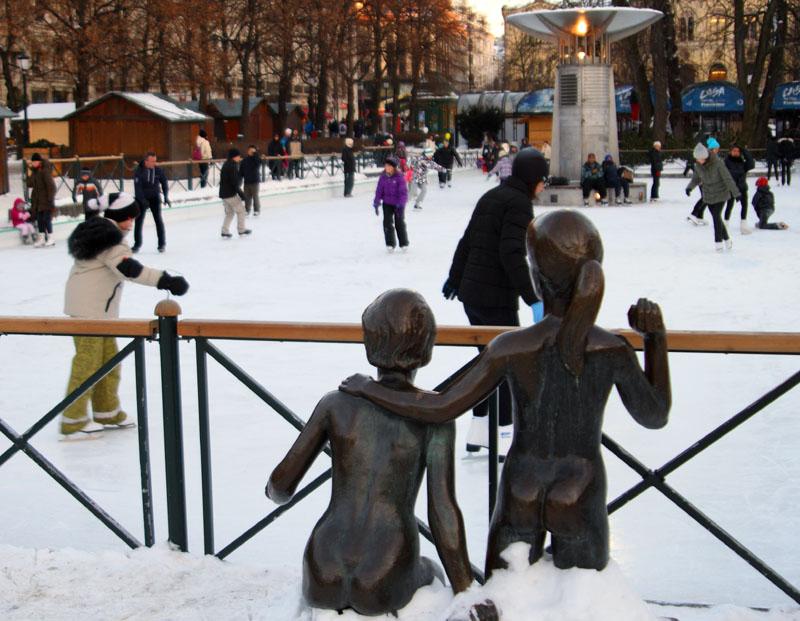 Каток в центре Осло, Норвегия / Фото из Норвегии