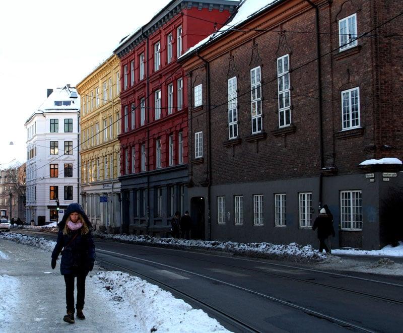 На улице Осло, Норвегия / Фото из Норвегии