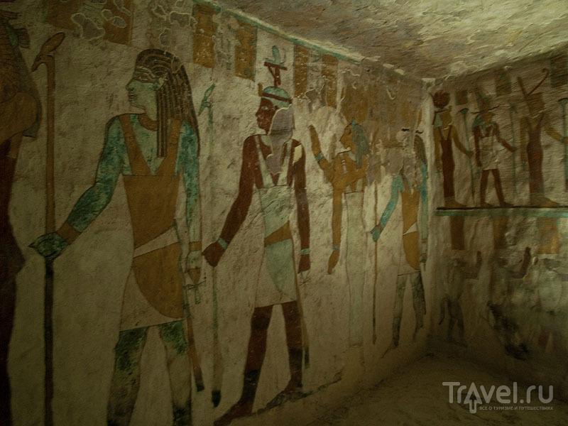 Фрески на стенах гробницы Zed-Amun-ef-ankh / Фото из Египта