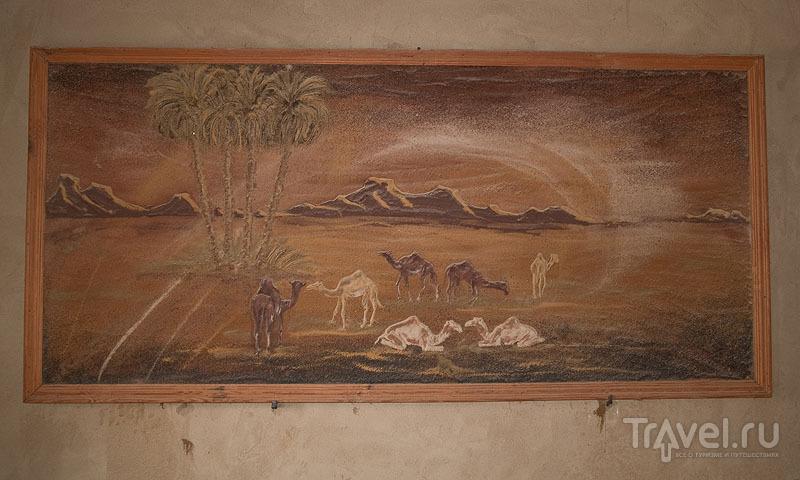 Картина из песка, автор - Бадр / Фото из Египта