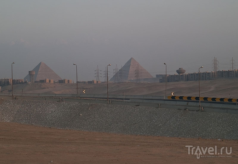 Вид на пирамиды Гизы / Фото из Египта