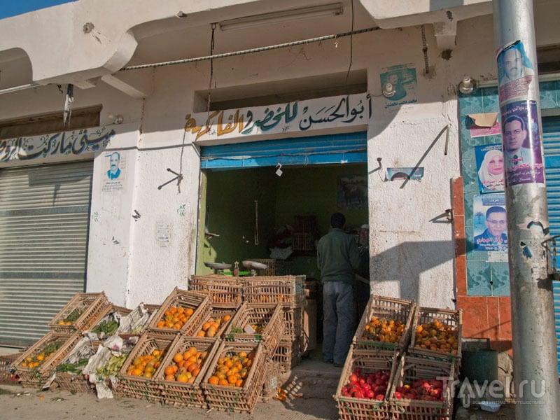 Фруктовая лавка в оазисе Фарафра / Фото из Египта