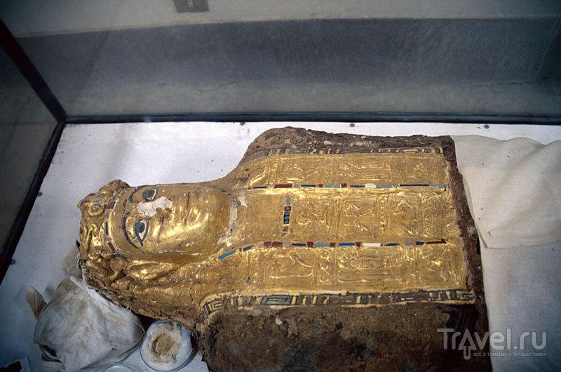 """Одна из """"золотых"""" мумий в музее в Бавити / Фото из Египта"""